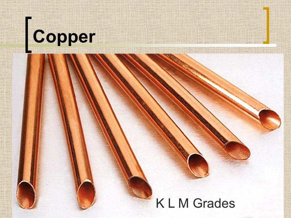 Copper K L M Grades