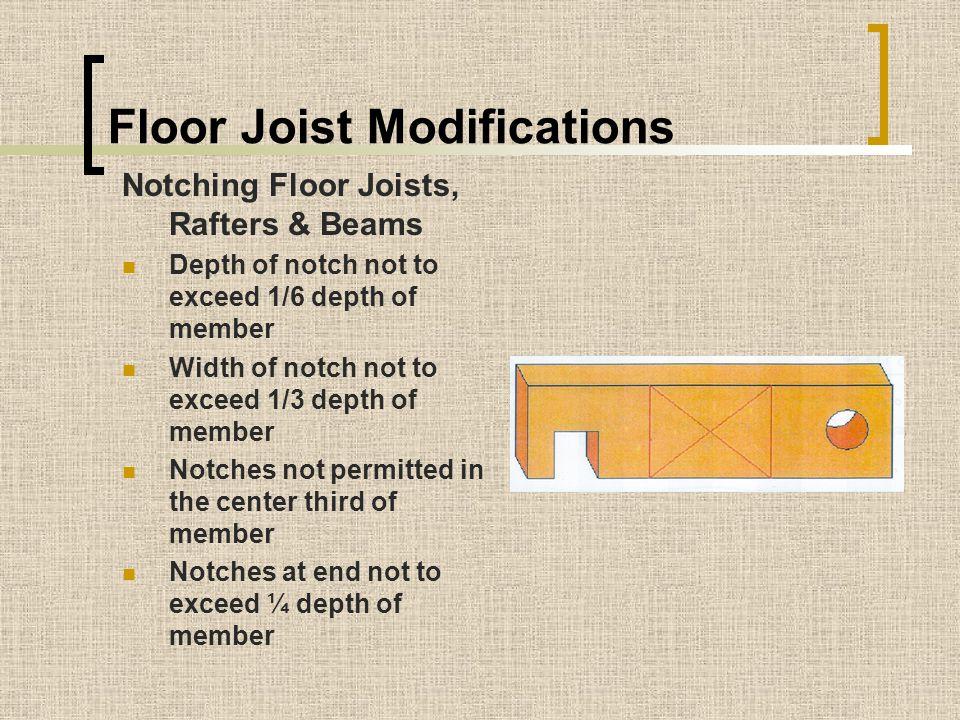 Floor Joist Modifications