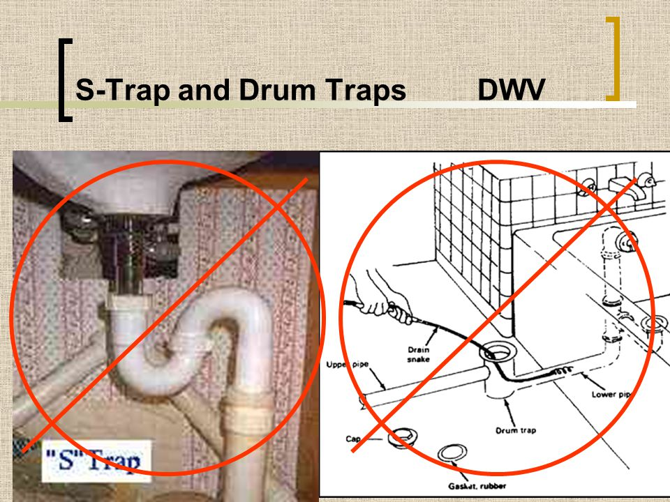 S-Trap and Drum Traps DWV