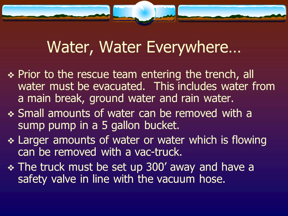 Water, Water Everywhere…