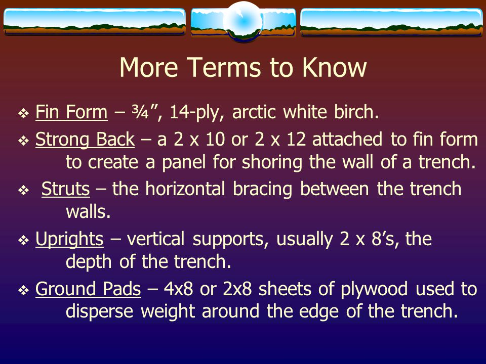 More Terms to Know Fin Form – ¾ , 14-ply, arctic white birch.