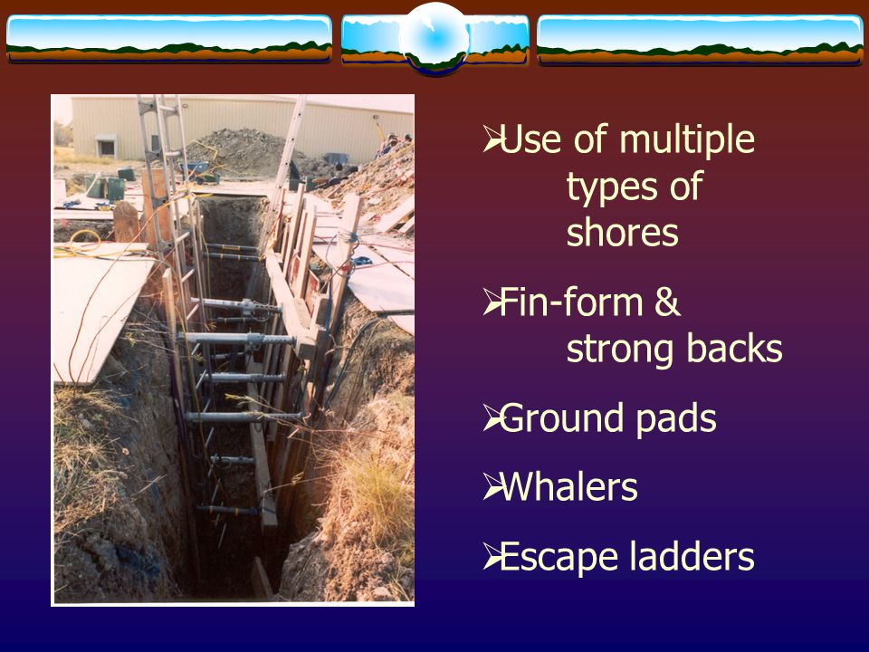 Use of multiple types of shores