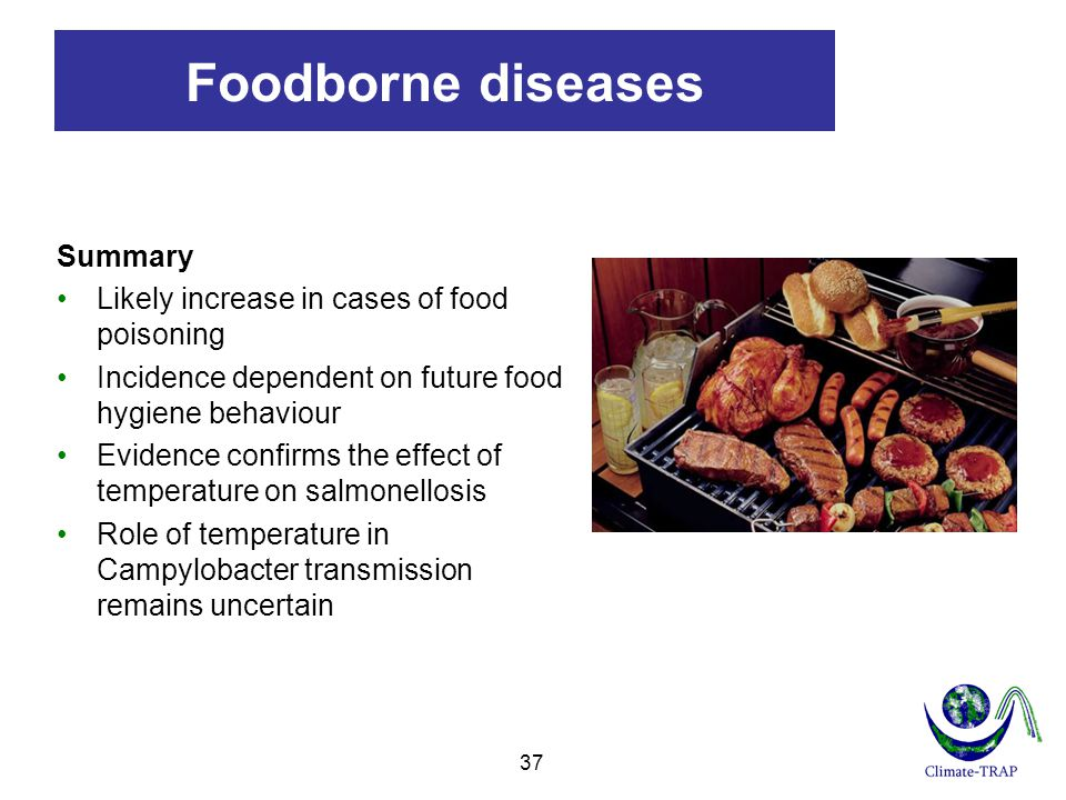 Foodborne diseases Summary Likely increase in cases of food poisoning