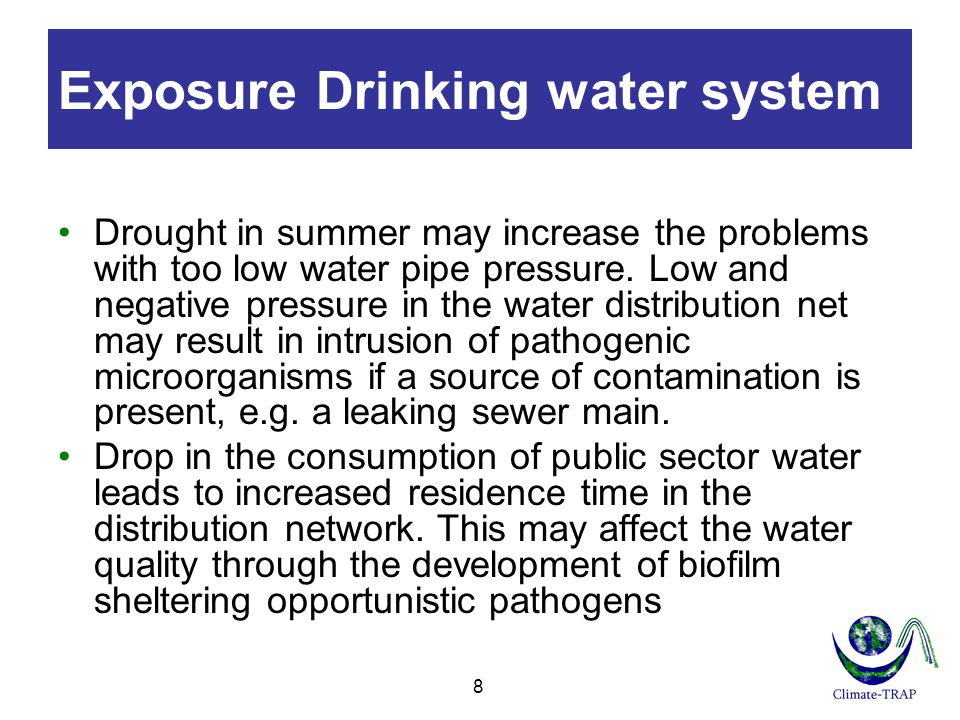Exposure Drinking water system