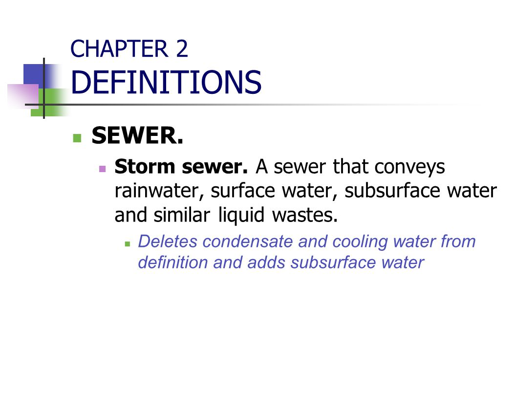 CHAPTER 2 DEFINITIONS SEWER.