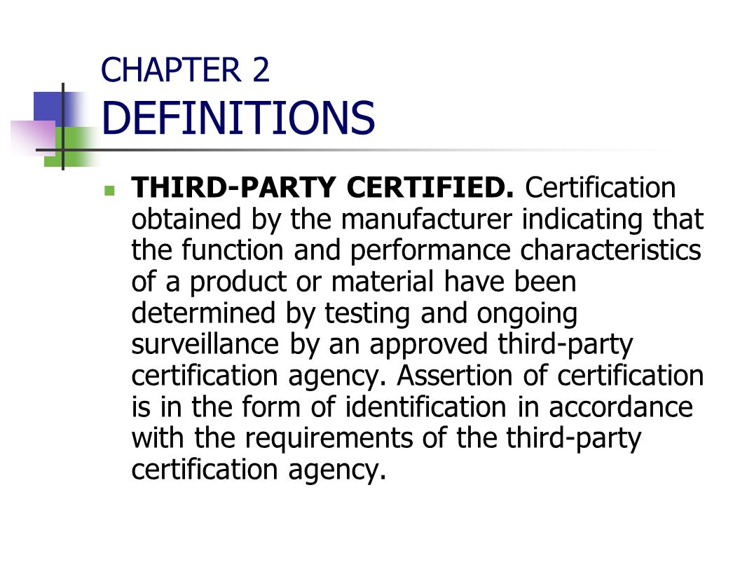 Florida building commission ppt download 18 chapter 2 definitions third party certified 1betcityfo Choice Image