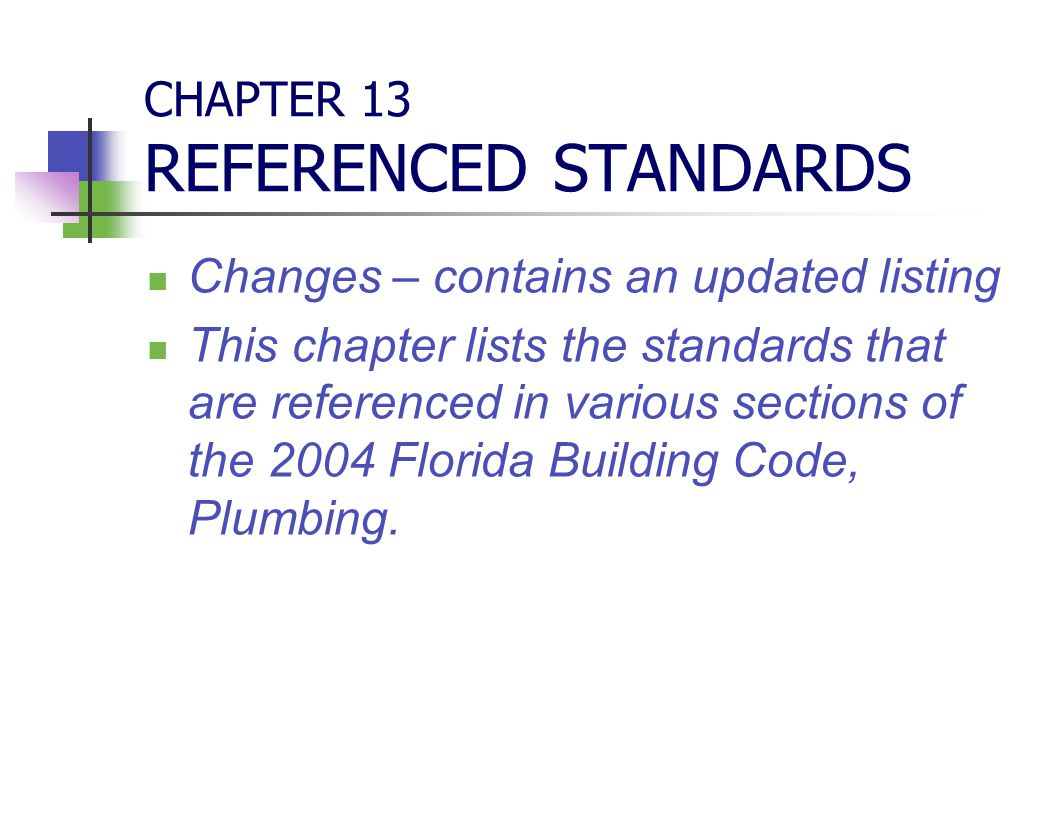 CHAPTER 13 REFERENCED STANDARDS