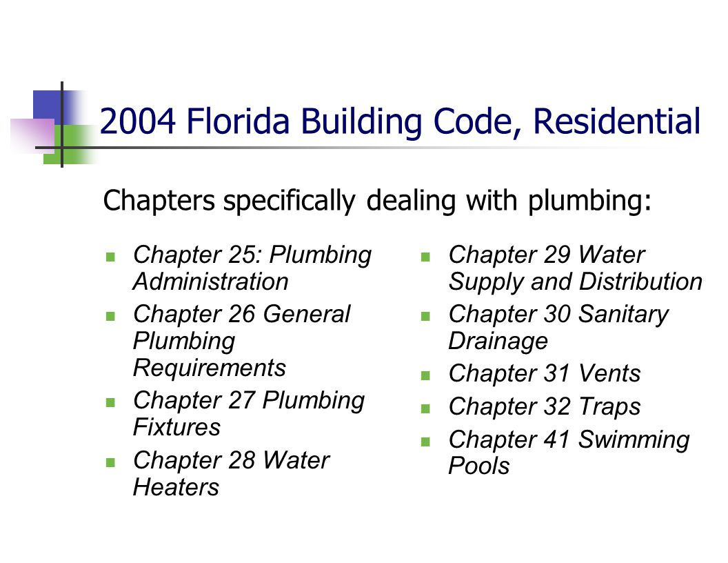 2004 Florida Building Code, Residential