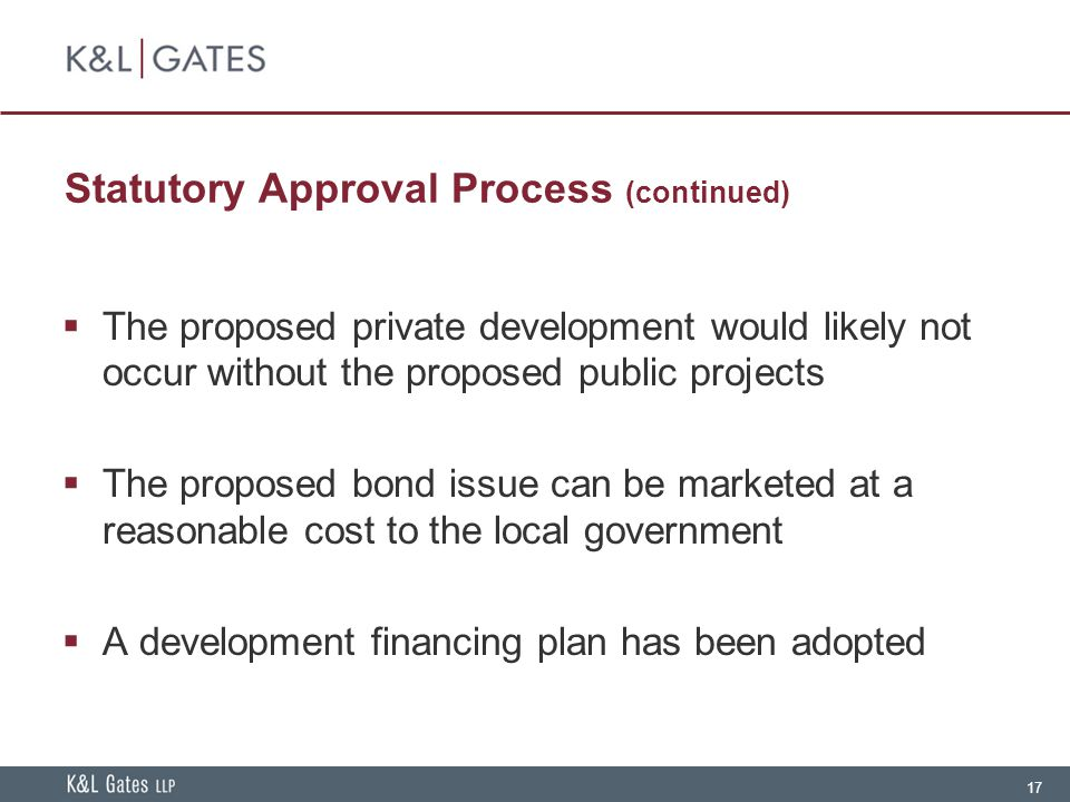 Statutory Approval Process (continued)