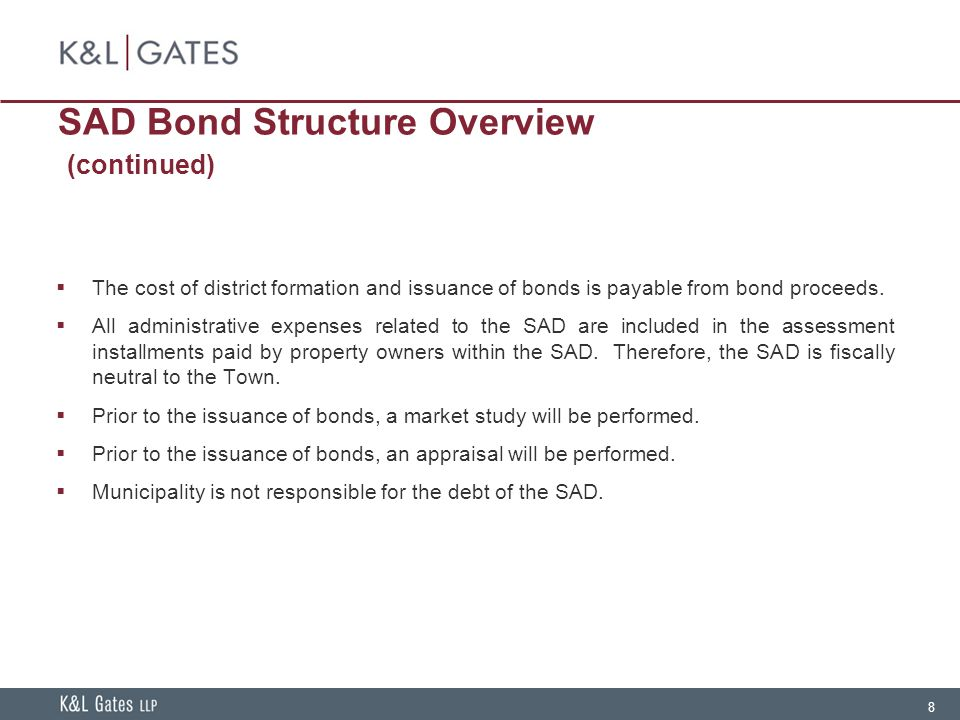 SAD Bond Structure Overview (continued)