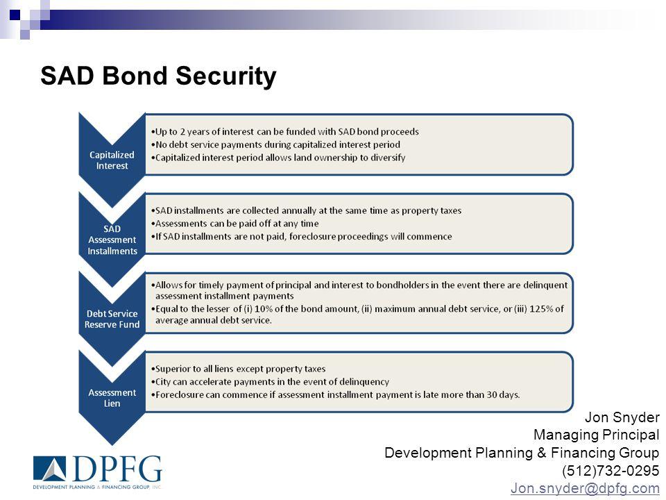 SAD Bond Security Jon Snyder Managing Principal