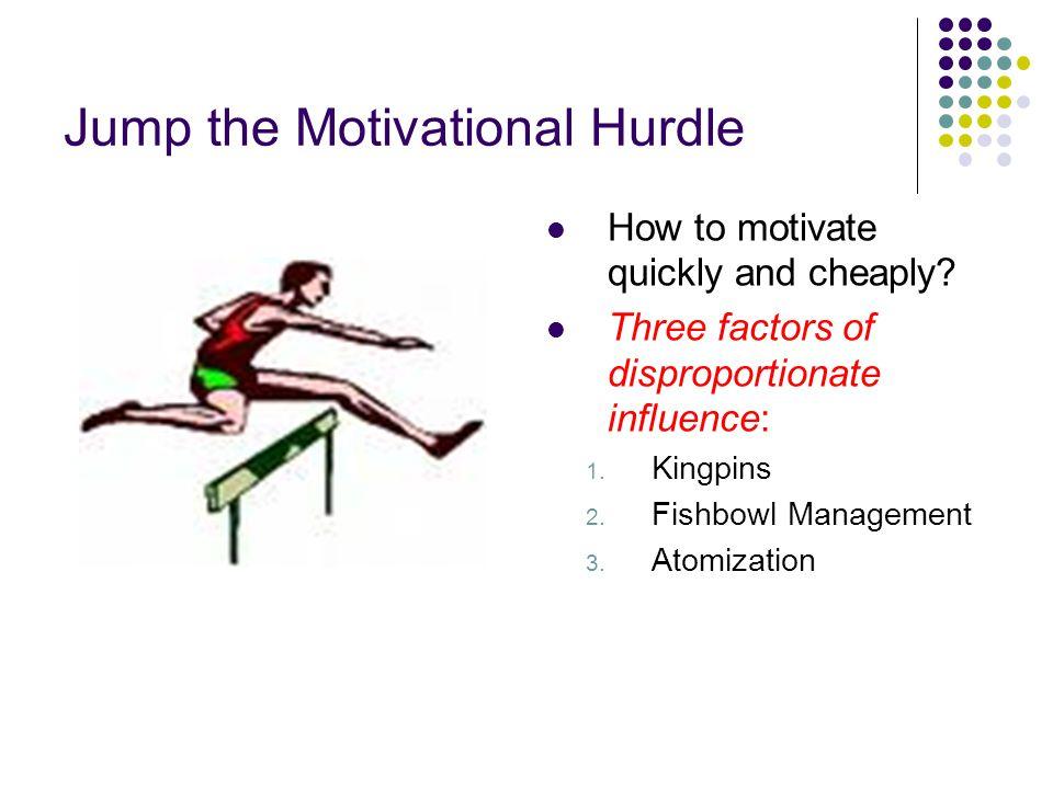 Jump the Motivational Hurdle