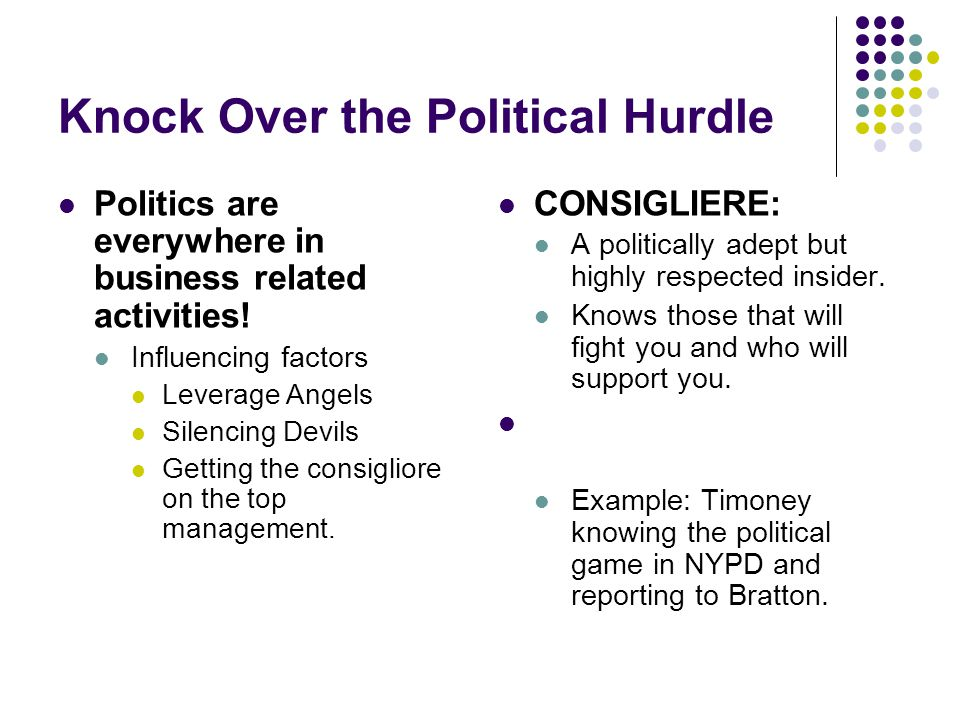 Knock Over the Political Hurdle