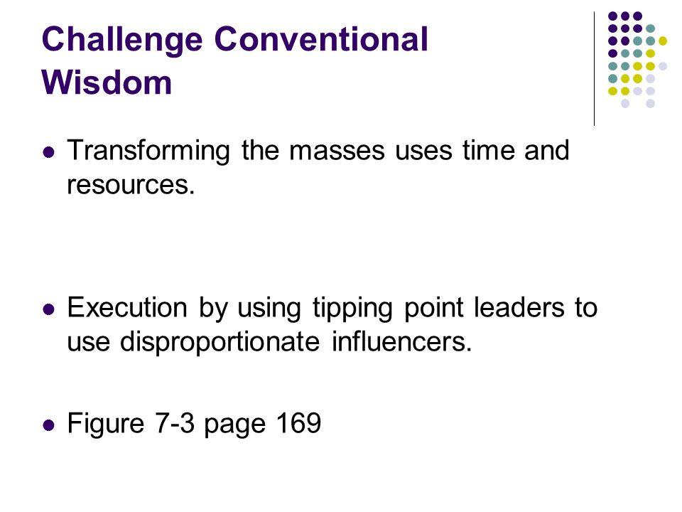 Challenge Conventional Wisdom