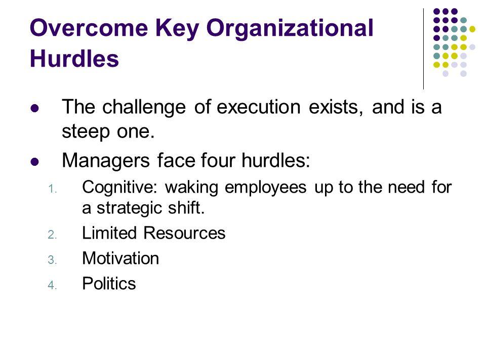 Overcome Key Organizational Hurdles