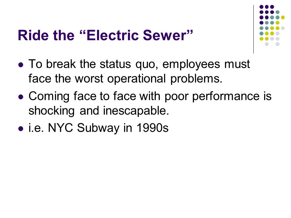 Ride the Electric Sewer