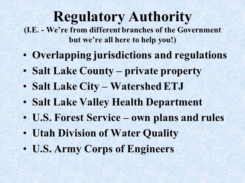 Regulatory Authority (I. E