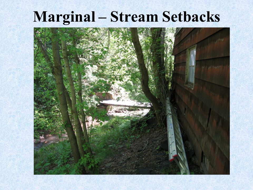 Marginal – Stream Setbacks