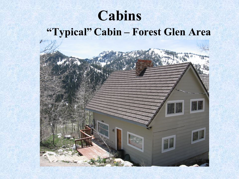 Typical Cabin – Forest Glen Area