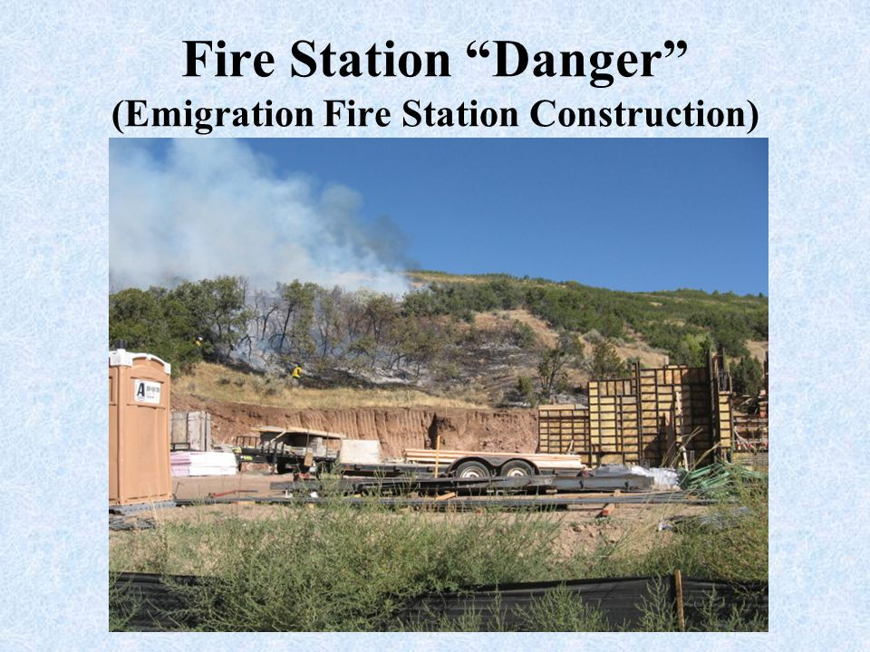 Fire Station Danger (Emigration Fire Station Construction)