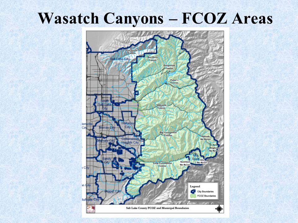 Wasatch Canyons – FCOZ Areas