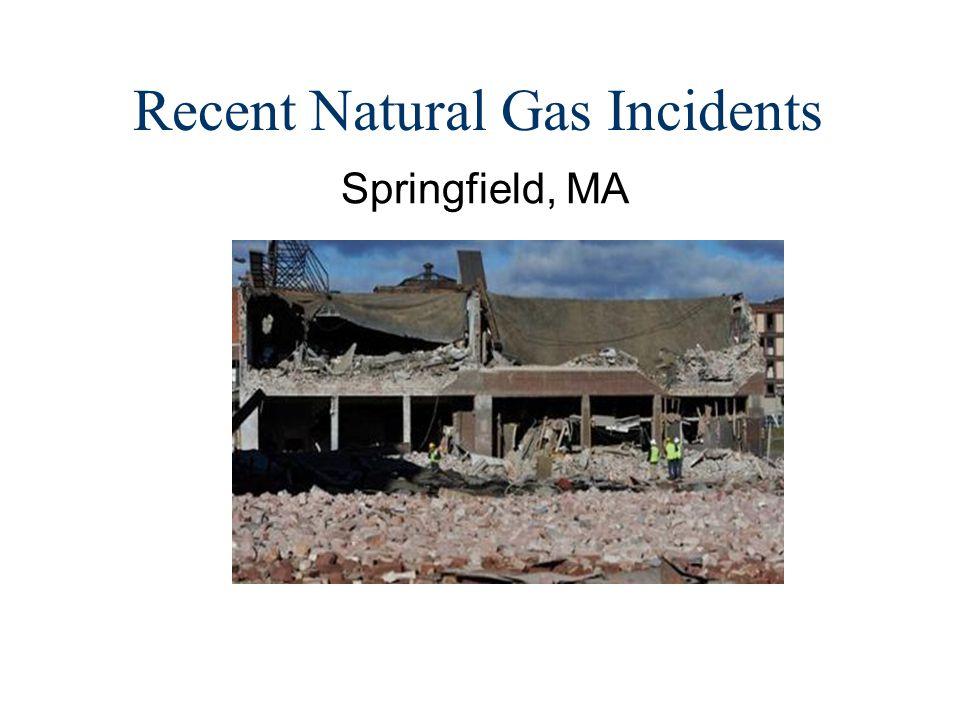Recent Natural Gas Incidents