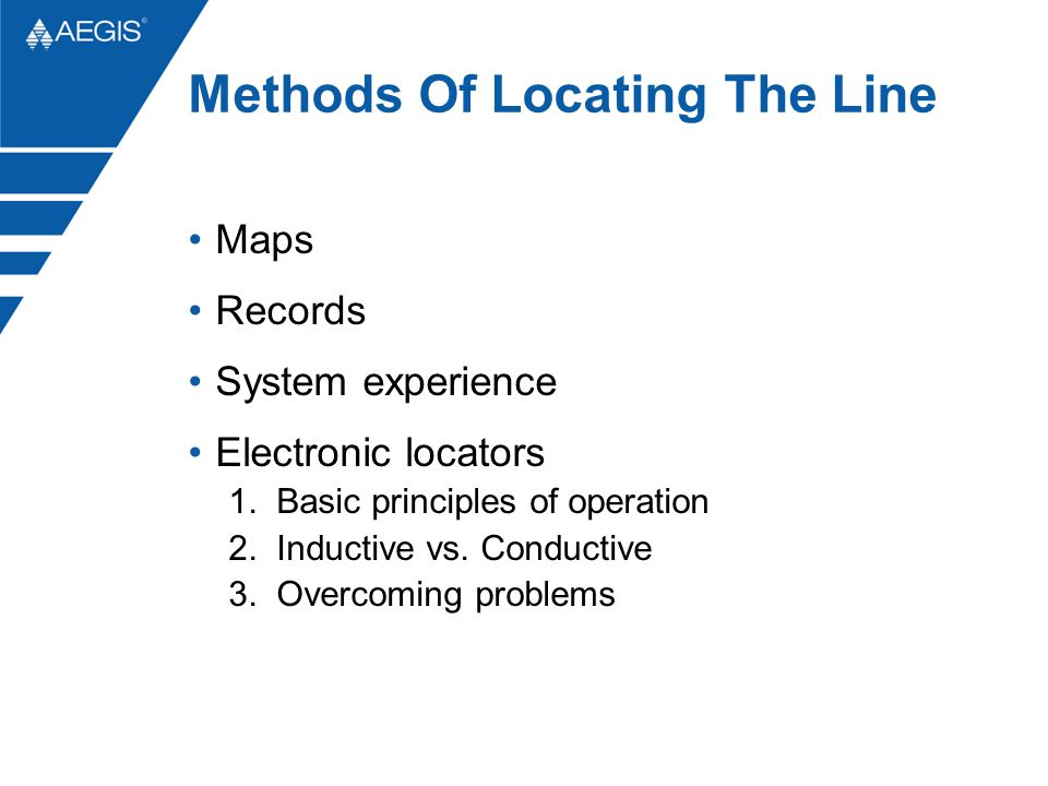 Methods Of Locating The Line