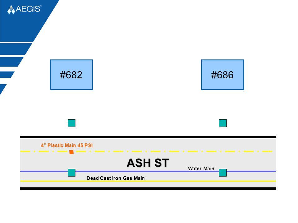 ASH ST #682 #686 4 Plastic Main 45 PSI Water Main