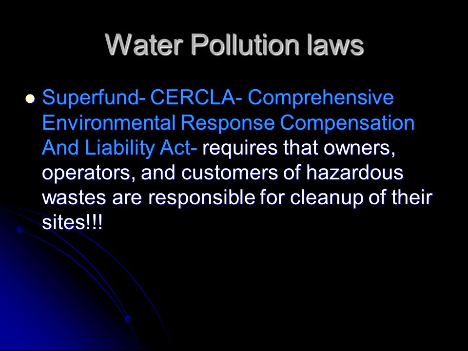 Water Pollution laws