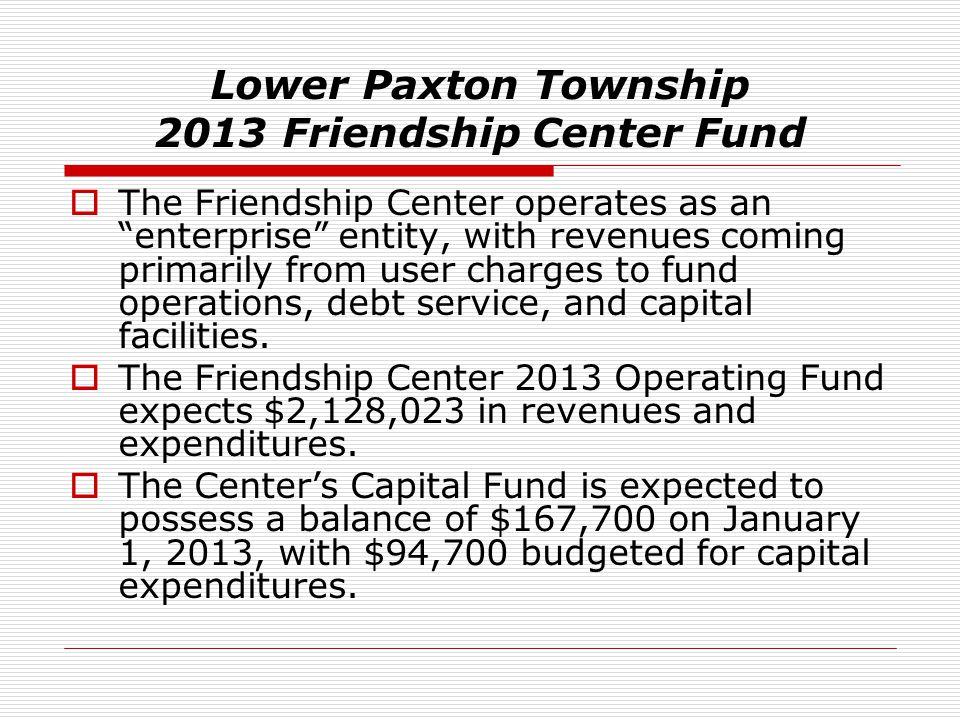 Lower Paxton Township 2013 Friendship Center Fund