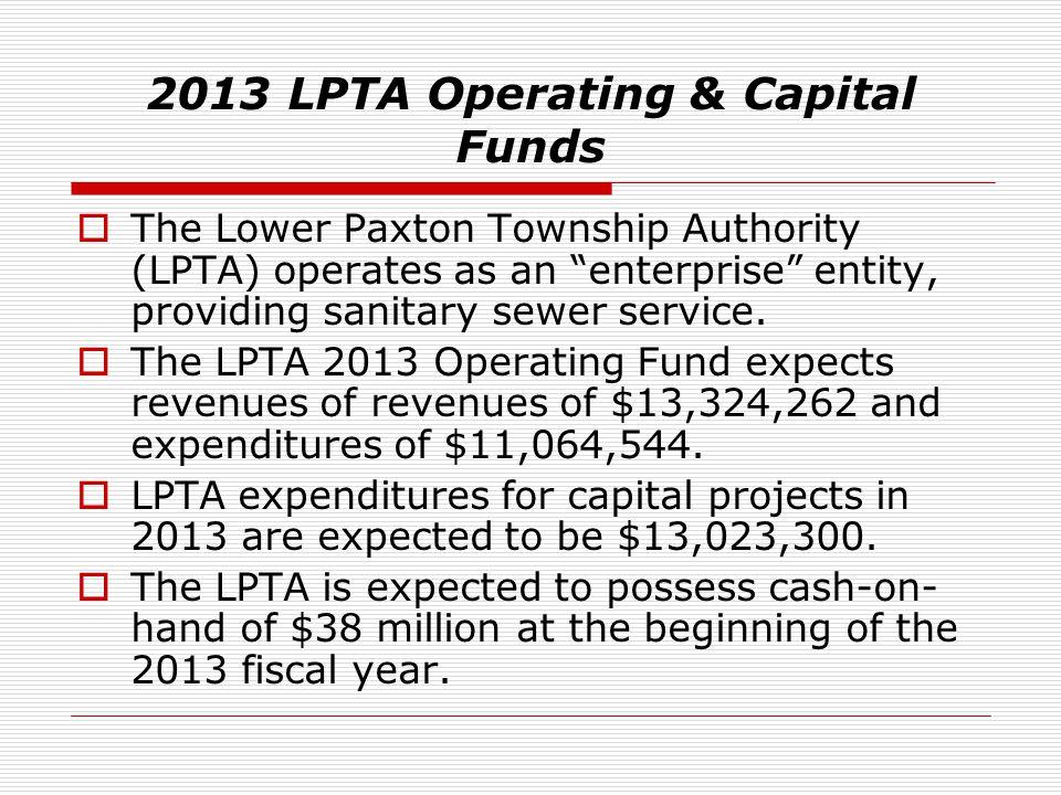 2013 LPTA Operating & Capital Funds