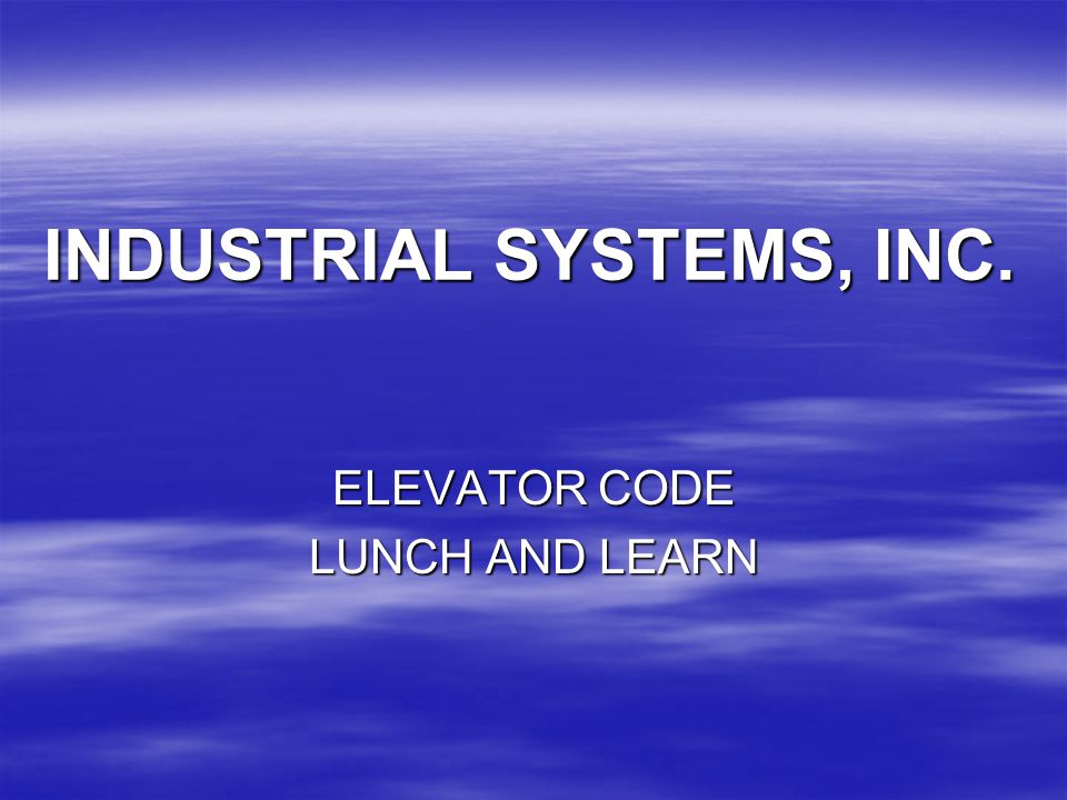 INDUSTRIAL SYSTEMS, INC.