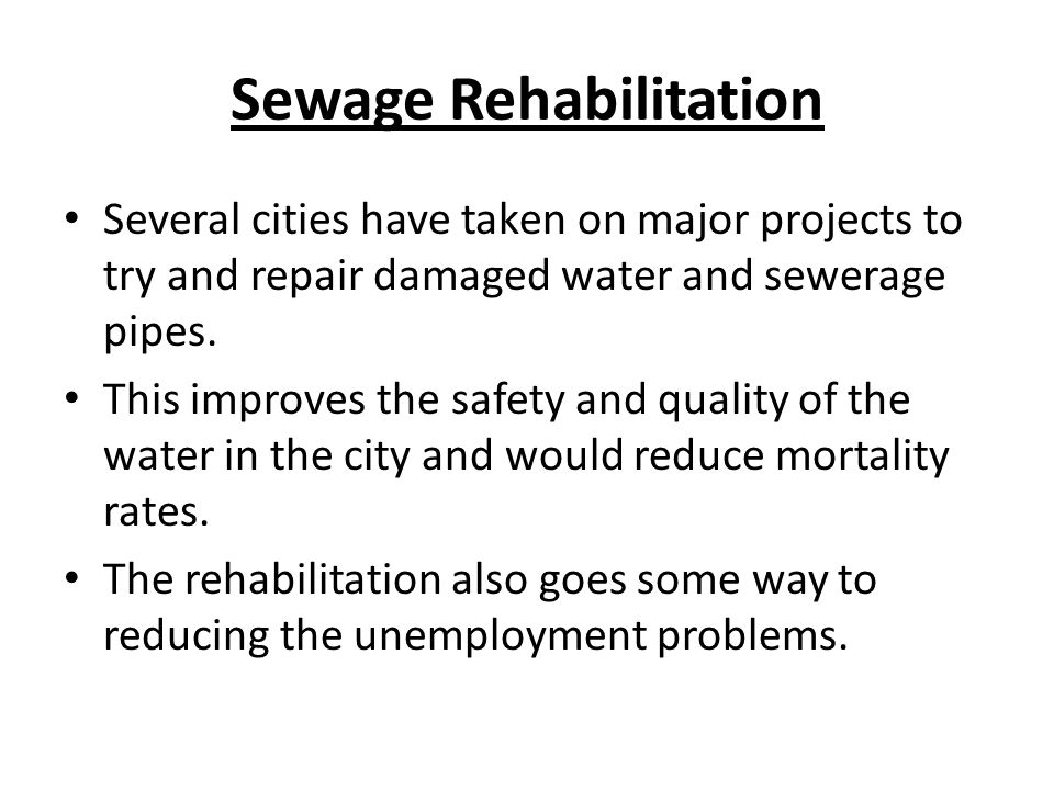 Sewage Rehabilitation