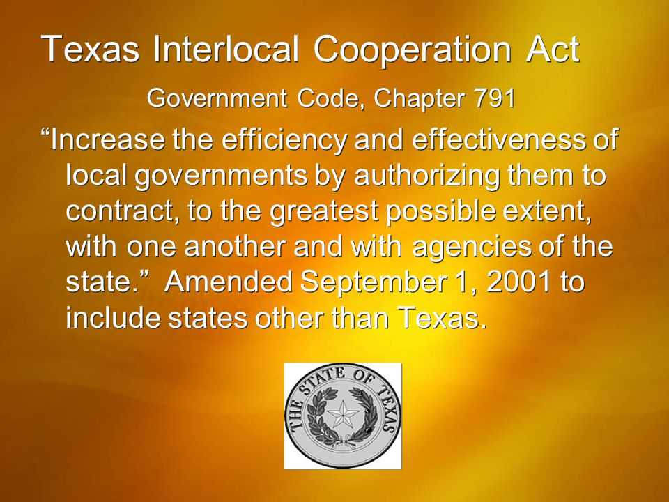 Texas Interlocal Cooperation Act