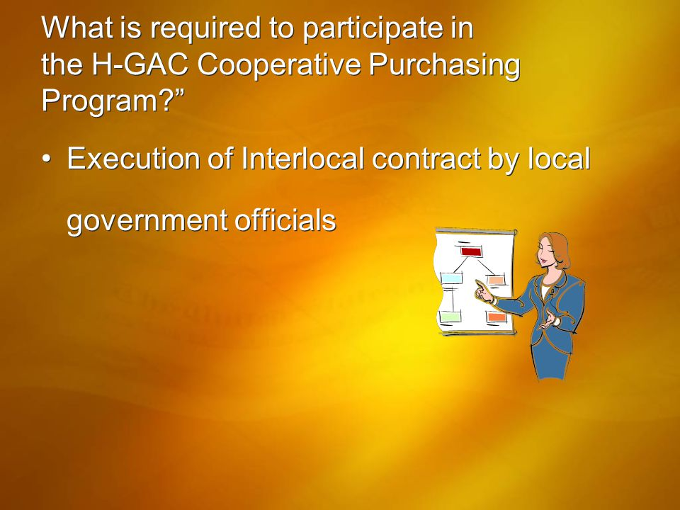What is required to participate in the H-GAC Cooperative Purchasing Program