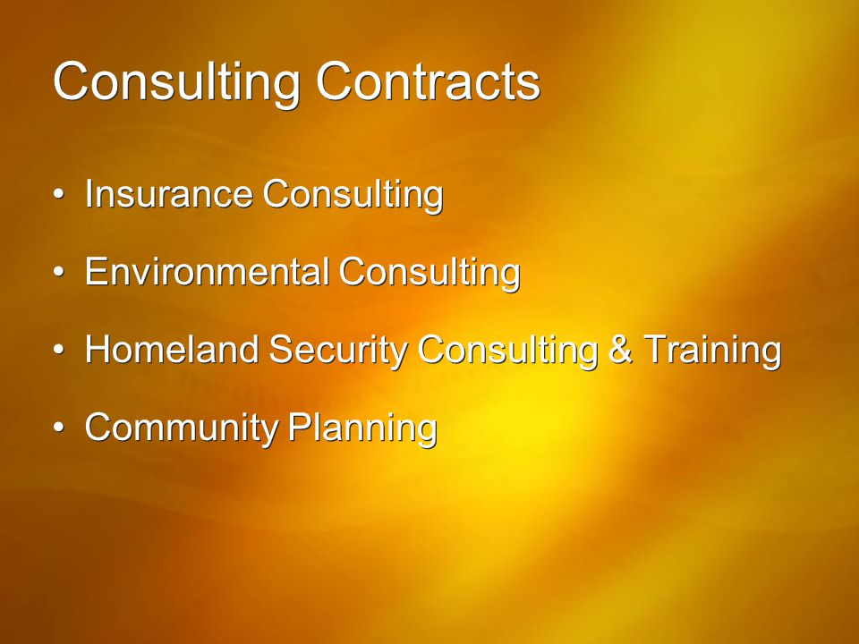 Consulting Contracts Insurance Consulting Environmental Consulting