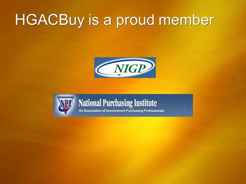 HGACBuy is a proud member