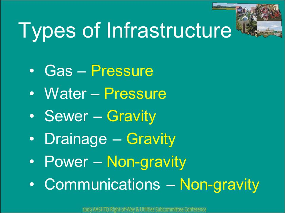 Types of Infrastructure
