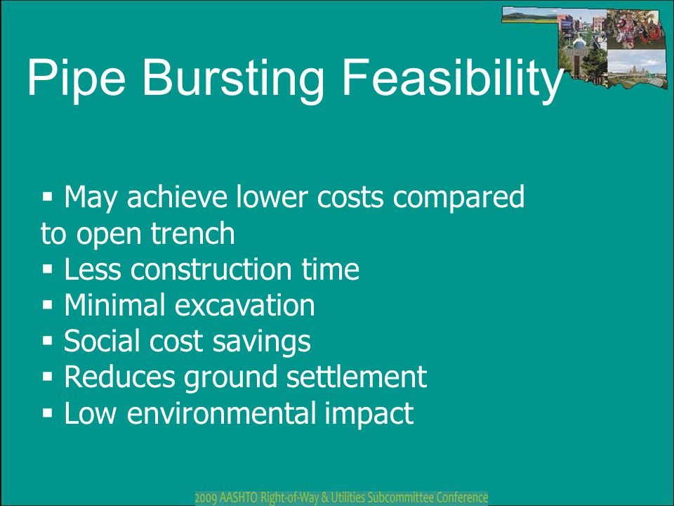 Pipe Bursting Feasibility