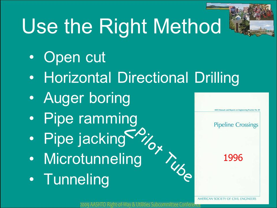 Use the Right Method Open cut Horizontal Directional Drilling