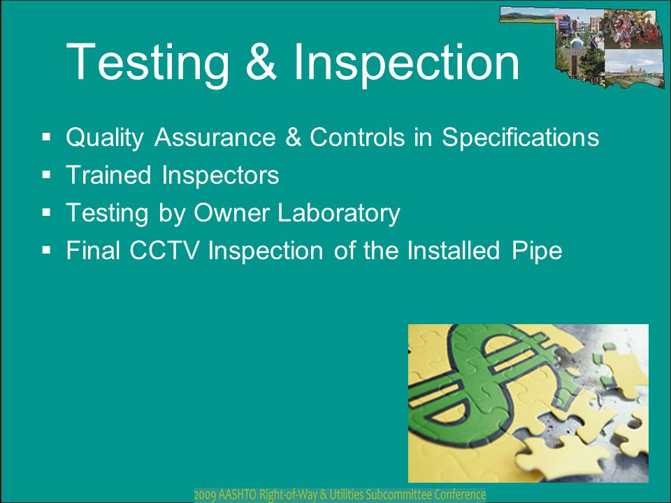 Testing & Inspection Quality Assurance & Controls in Specifications