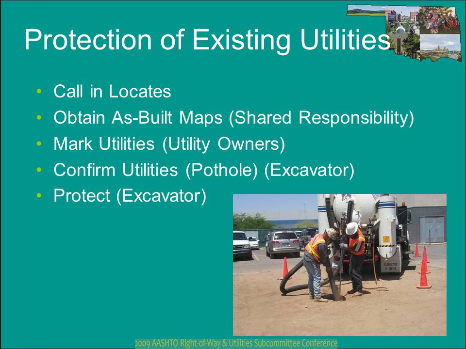 Protection of Existing Utilities