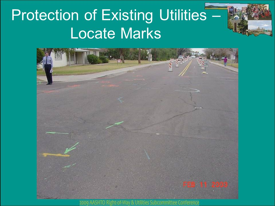 Protection of Existing Utilities – Locate Marks