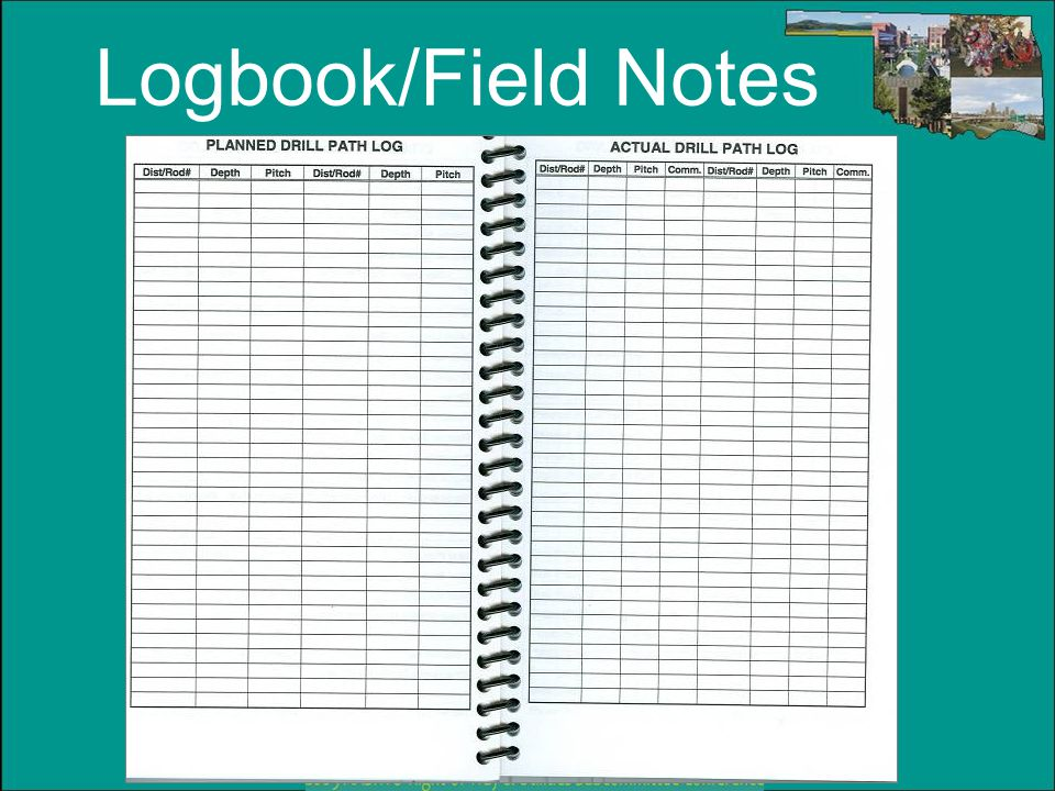 Logbook/Field Notes