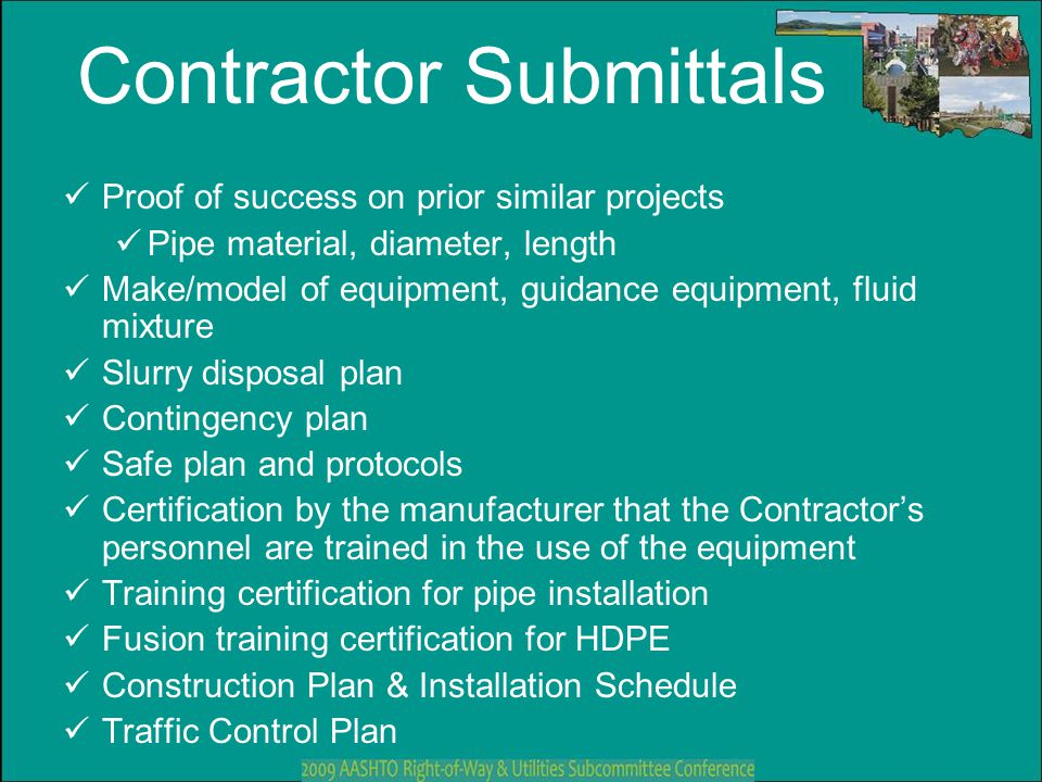 Contractor Submittals