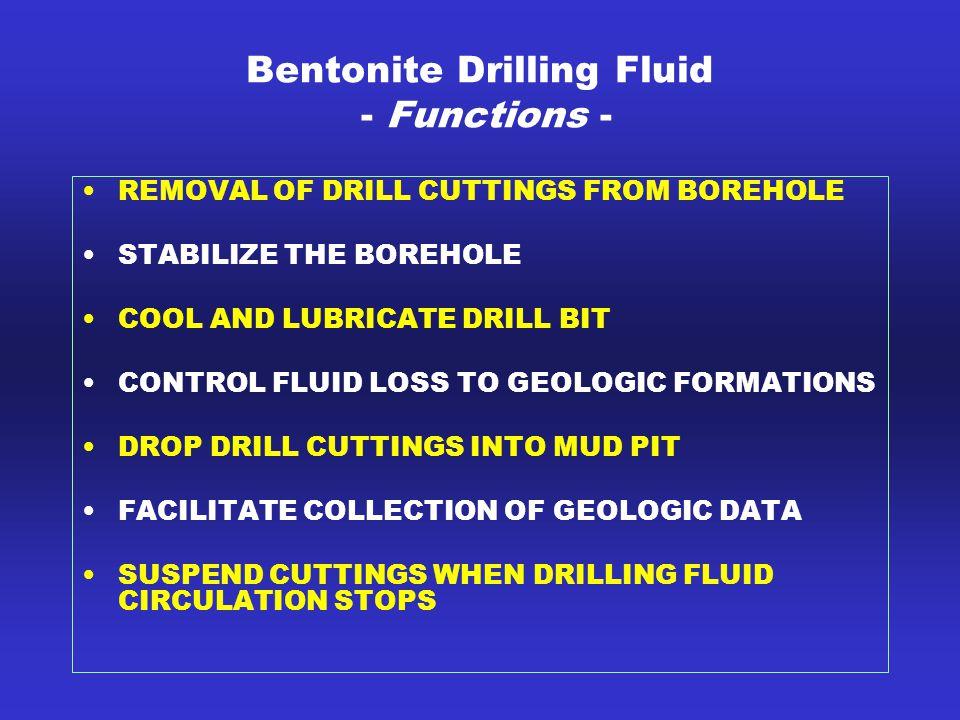 Bentonite Drilling Fluid - Functions -