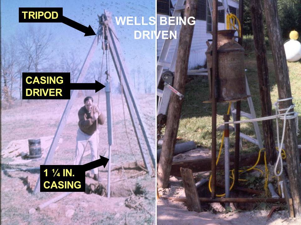 TRIPOD WELLS BEING DRIVEN CASING DRIVER 1 ¼ IN. CASING