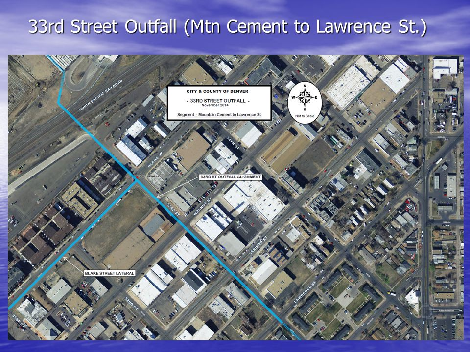 33rd Street Outfall (Mtn Cement to Lawrence St.)