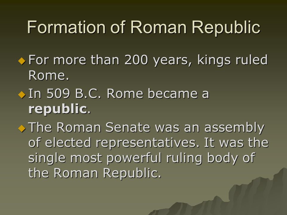 Formation of Roman Republic