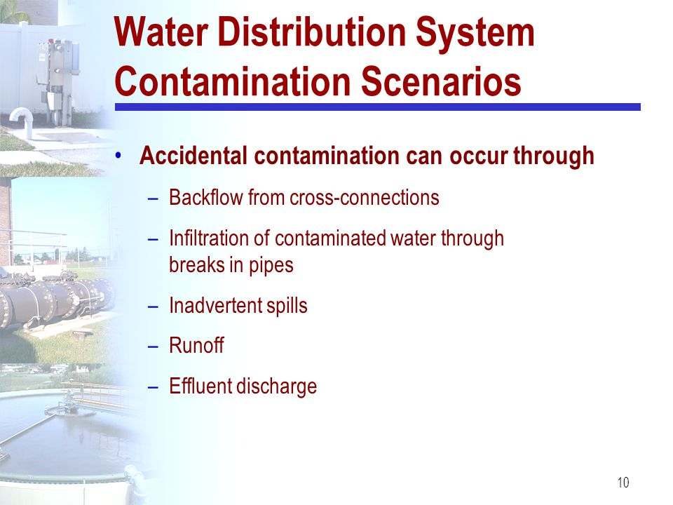 Water Distribution System Contamination Scenarios